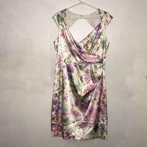London Times Satin Floral Dress